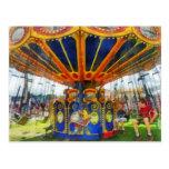 Carnival - Super Swing Ride Postcard
