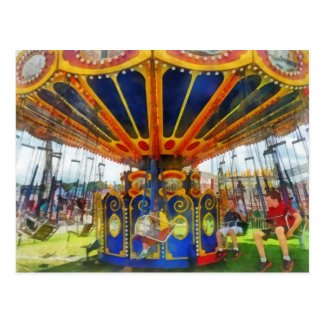 Carnival - Super Swing Ride Postcard