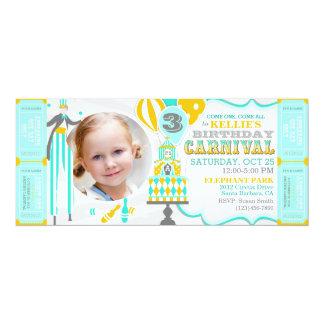 Carnival Tent Cake Birthday Invitations