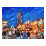 """Carnival - The carnival at night 8.5"""" X 11"""" Flyer"""