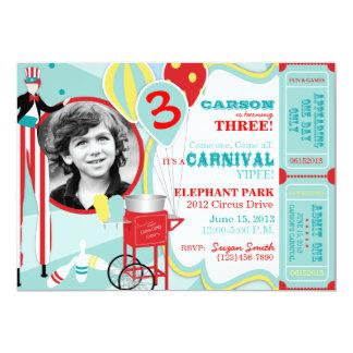 Carnival Theme Birthday Invitation A7-AQRD