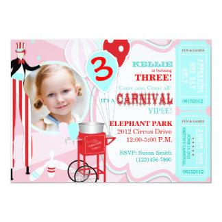 Carnival Theme Birthday Invitation A7-PKRD
