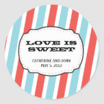 Carnival Themed Wedding Classic Round Sticker