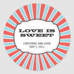 Carnival Themed Wedding Round Stickers