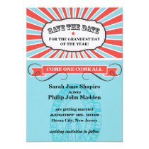 Carnival Themed Wedding Save the Date Invitation