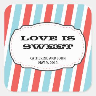 Carnival Themed Wedding Square Sticker