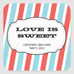 Carnival Themed Wedding Square Stickers