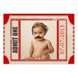 Carnival Ticket Birthday Invite Chubby Card