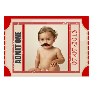 Carnival Ticket Birthday Invite Chubby Card Business Card Template