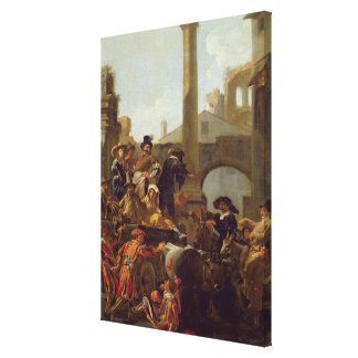 Carnival Time in Rome, 1653 (oil on canvas) Canvas Print