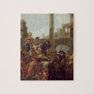 Carnival Time in Rome, 1653 (oil on canvas) Jigsaw Puzzle