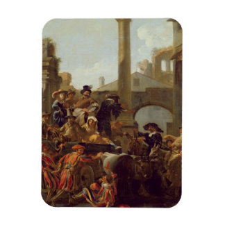 Carnival Time in Rome, 1653 (oil on canvas) Magnet