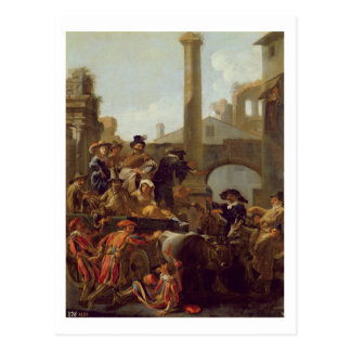 Carnival Time in Rome, 1653 (oil on canvas) Postcard