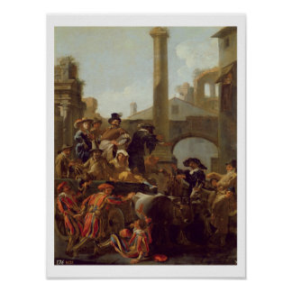 Carnival Time in Rome, 1653 (oil on canvas) Poster