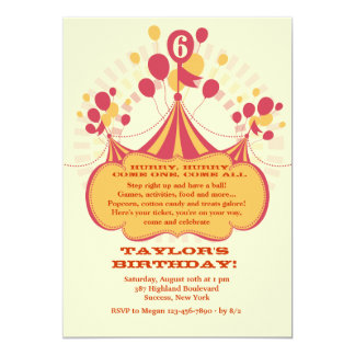 Carnival Time Invitation
