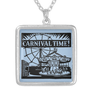 Carnival Time Square Pendant Necklace