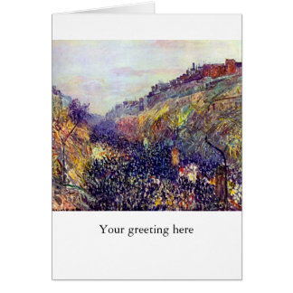 Carnival Tuesday on Boulevard Montmartre at Sunset Card
