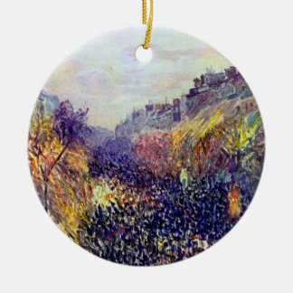 Carnival Tuesday on Boulevard Montmartre at Sunset Ceramic Ornament