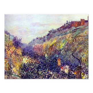Carnival Tuesday on Boulevard Montmartre Pissarro Card