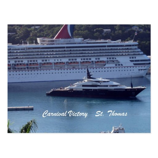Carnival Victory  St. Thomas Postcard