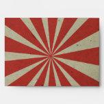 carnival vintage red lines envelopes