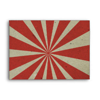 carnival vintage red lines envelopes