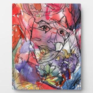 Carnival Watercolor Plaque