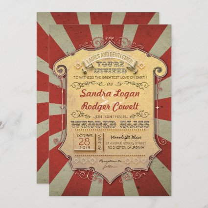 carnival wedding invitations