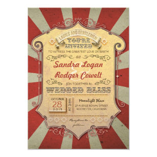 Carnival Wedding Invitations Announcements Zazzle