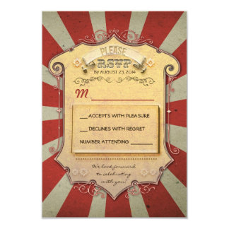 carnival wedding RSVP 3.5x5 Paper Invitation Card