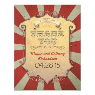 carnival wedding thank you cards personalized invite
