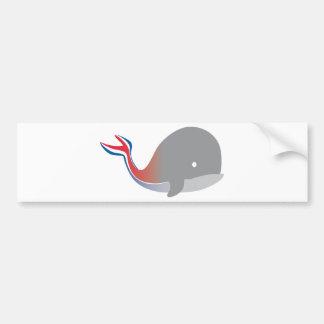 Carnival Whale Tail Cartoon Cruise Car Bumper Sticker