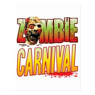 Carnival Zombie Head Postcard