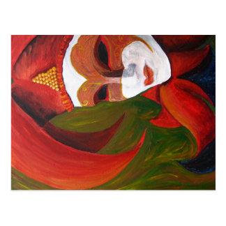 """Carnivale"" Acrylic Painting - Postcard"