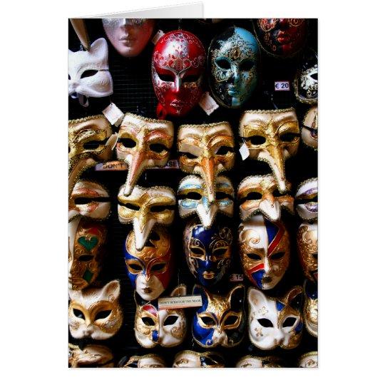 Carnivale Masks Card