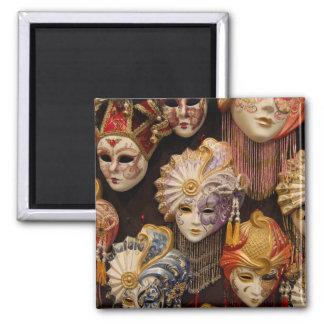 Carnivale Masks in Venice Italy 2 Inch Square Magnet