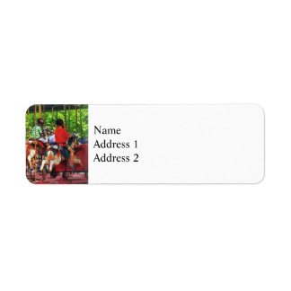 Carnivals - Friends on the Merry-Go-Round Return Address Label