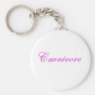 Carnivore Basic Round Button Keychain