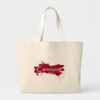 carnivore blood splatter canvas bags