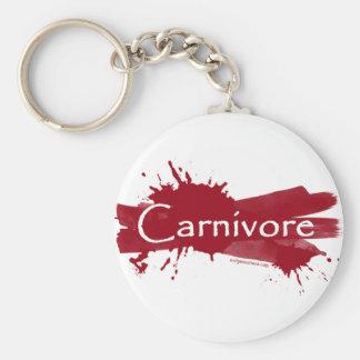 carnivore blood splatter basic round button keychain
