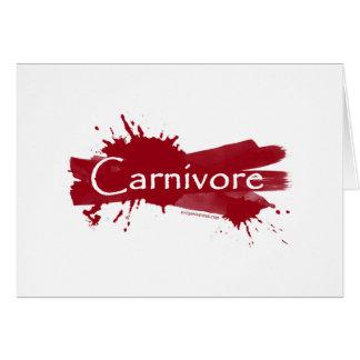 carnivore blood splatter greeting cards