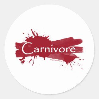 carnivore blood splatter classic round sticker