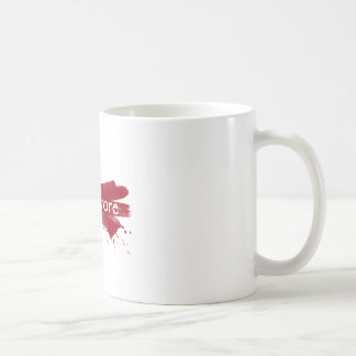 carnivore blood splatter coffee mug
