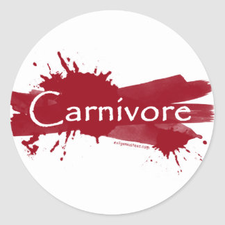 carnivore blood splatter sticker