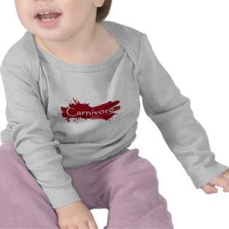 carnivore blood splatter t-shirts