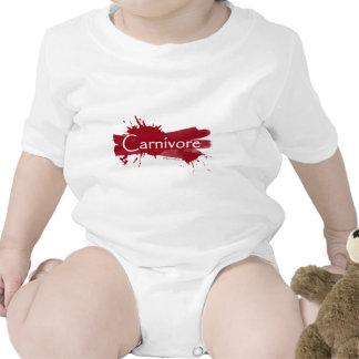 carnivore blood splatter baby bodysuit