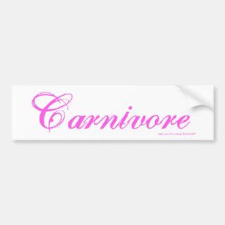 Carnivore bumper sticker