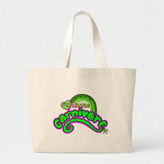 carnivore large tote bag