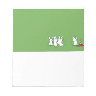 Carnivore Rabbits Notepad