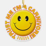 Carnivore Trust Me Smile Double-Sided Ceramic Round Christmas Ornament